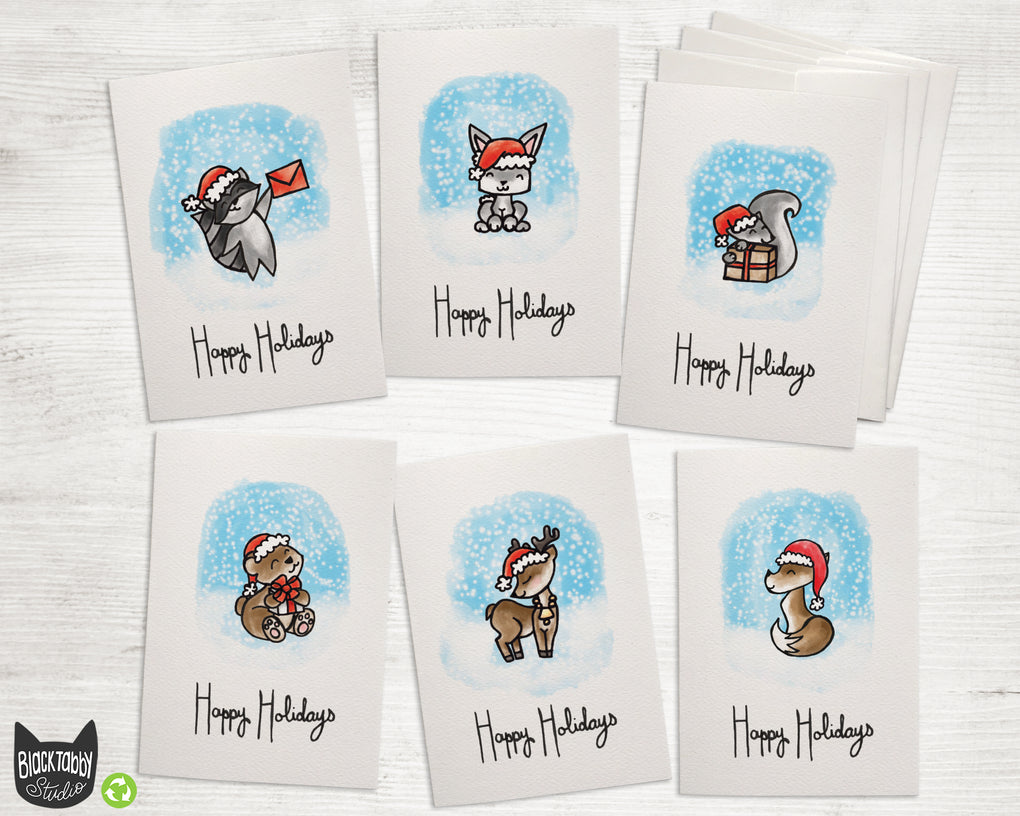 Cute Holiday Animals - CLEARANCE - Holiday Collection Pack