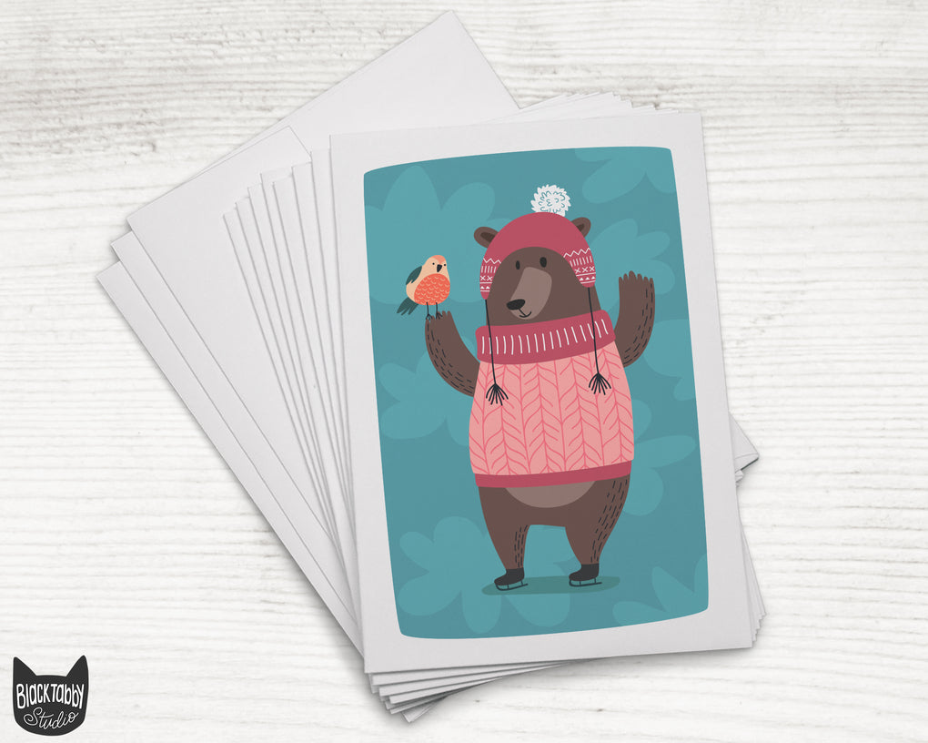 Big Friendly Bear - 24 Holiday Cards