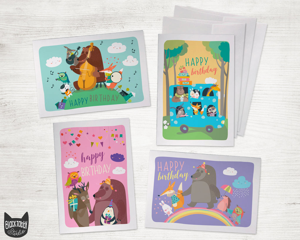 Whimsical Woodland Animals - Birthday Pack