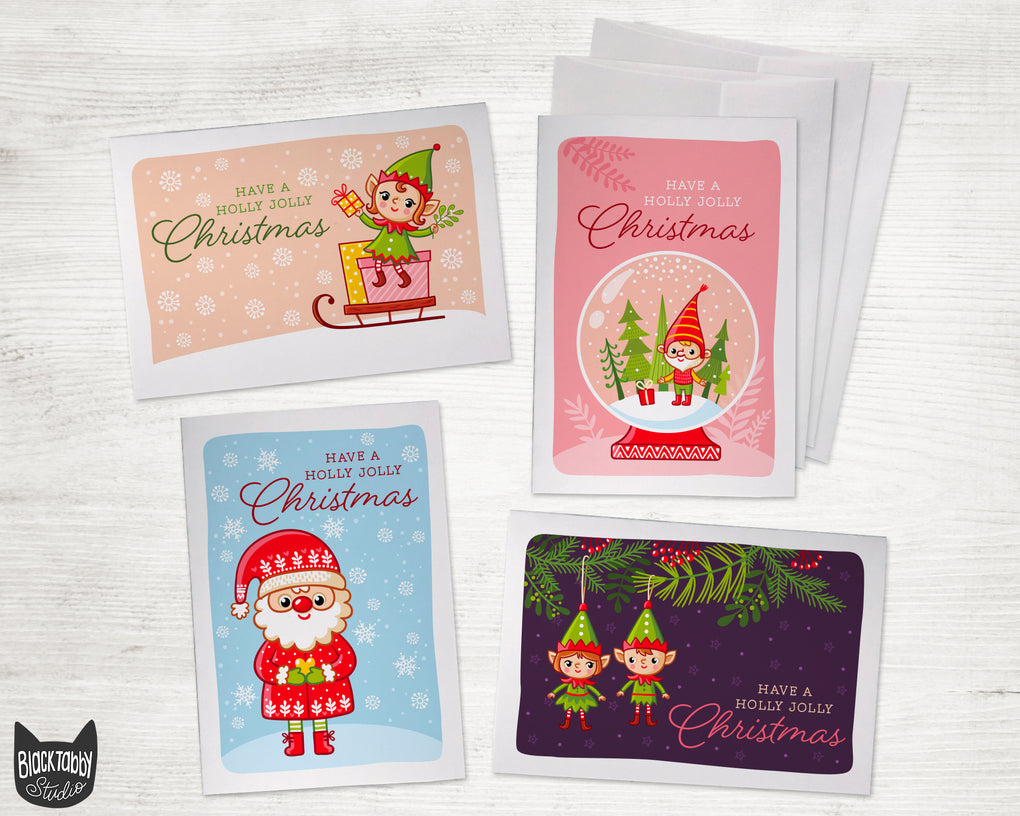 Santa and Cute Elves - Christmas Pack