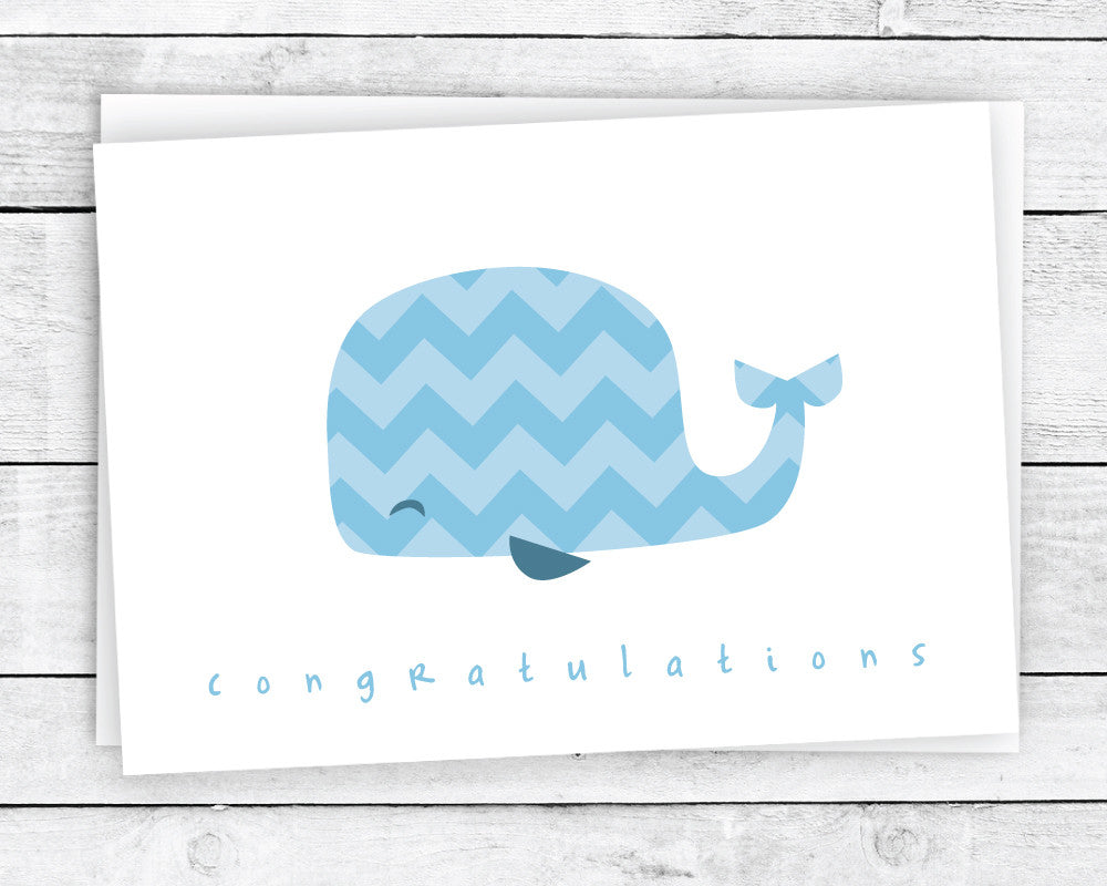 Chevron Animals Congrats Cards Collection