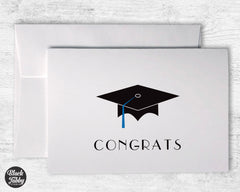 Graduation Cap with Blue Tassel - Congrats Cards