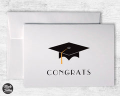 Graduation Cap with Gold Tassel - Congrats Cards