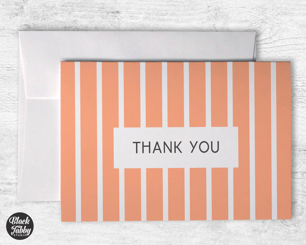 Geometric Orange - Thank You Cards