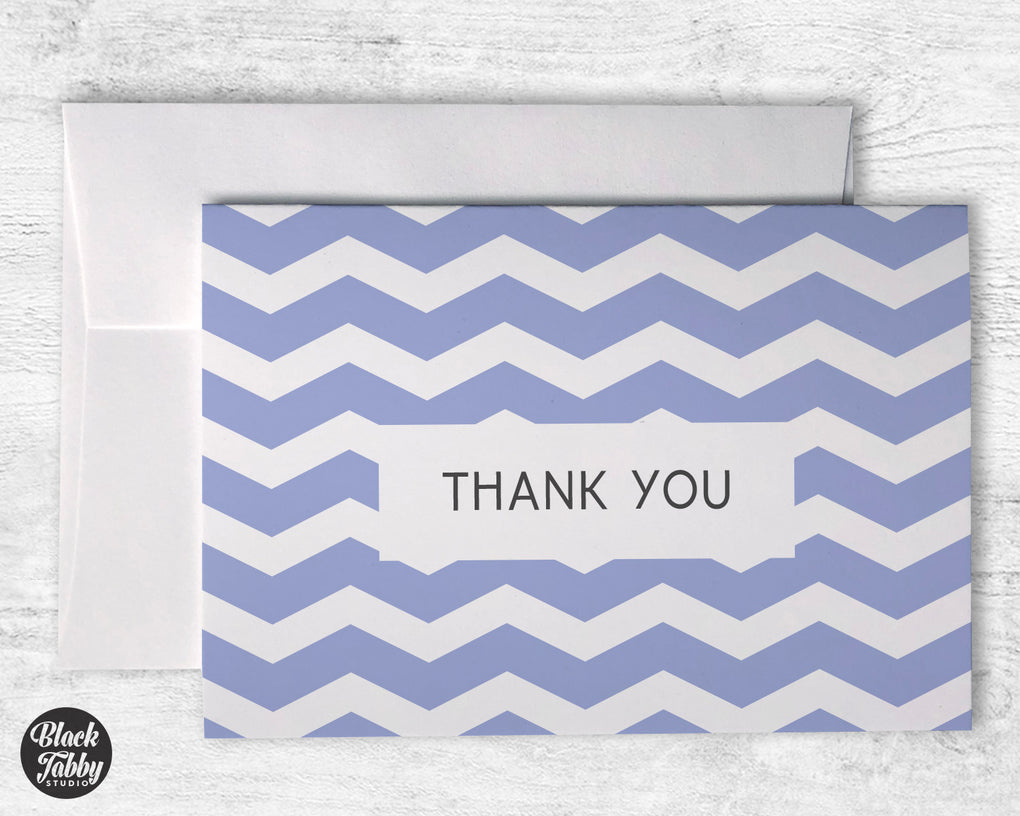 Geometric Purple - Thank You Cards