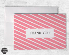 Geometric Pink - Thank You Cards