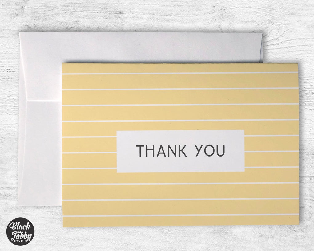 Geometric Yellow - Thank You Cards