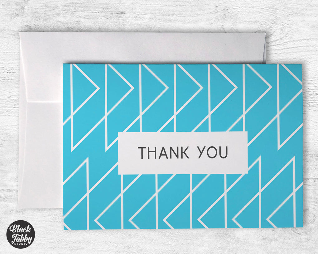 Geometric Blue - Thank You Cards
