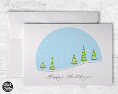 Christmas Snowglobe - Happy Holidays Cards