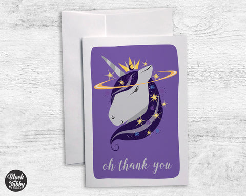 Unicorn Celestial - Thank You Cards