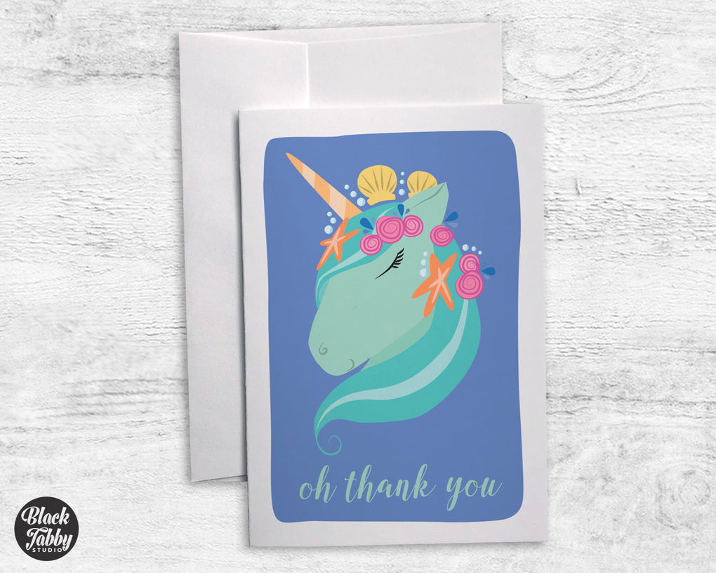 Unicorn Under the Sea - Thank You Cards