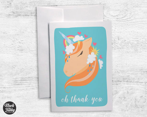 Unicorn Rainbow Skies - Thank You Cards