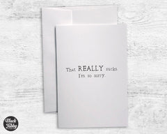That REALLY Sucks - Sympathy Cards