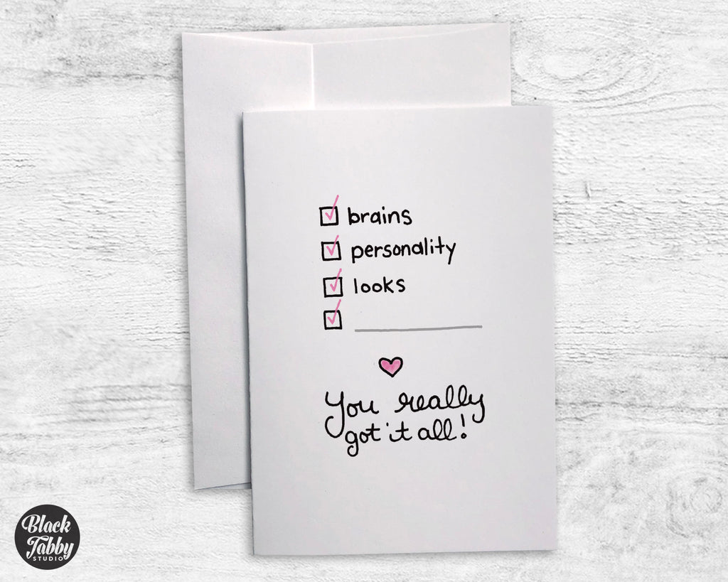 You Really Got It All - Fill In Cards