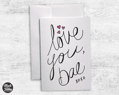 Love You, Bae - Greeting Cards
