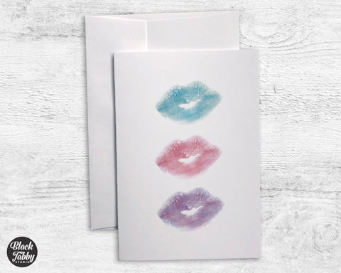 Kiss Kiss Kiss - Greeting Cards