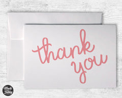 Pretty Pink Thank You - Thank You Cards