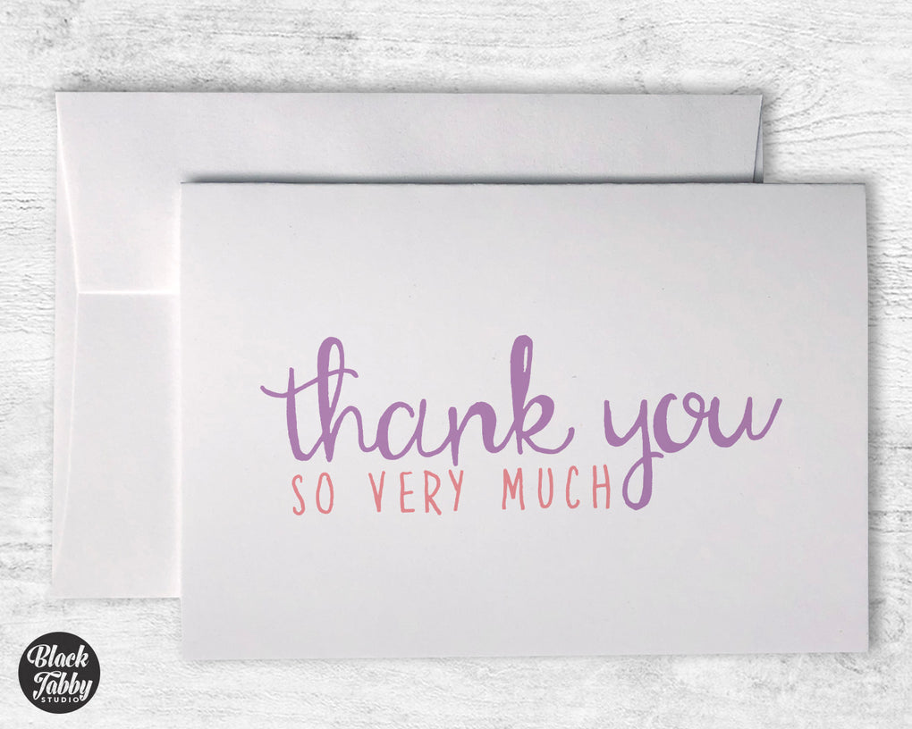 Thank You So Very Much - Thank You Cards