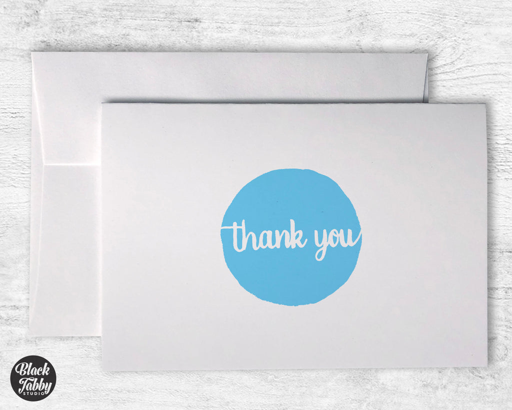 Blue Polka Dot Thank You - Thank You Cards