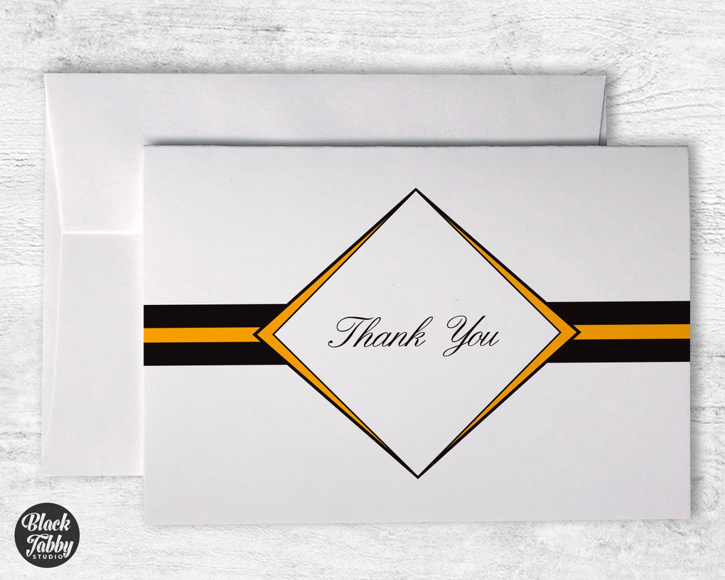 Formal Diamond Graduation Gold - Thank You Cards