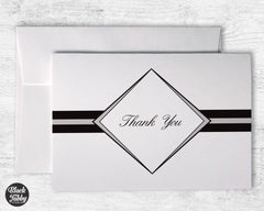 Formal Diamond Graduation Grey - Thank You Cards