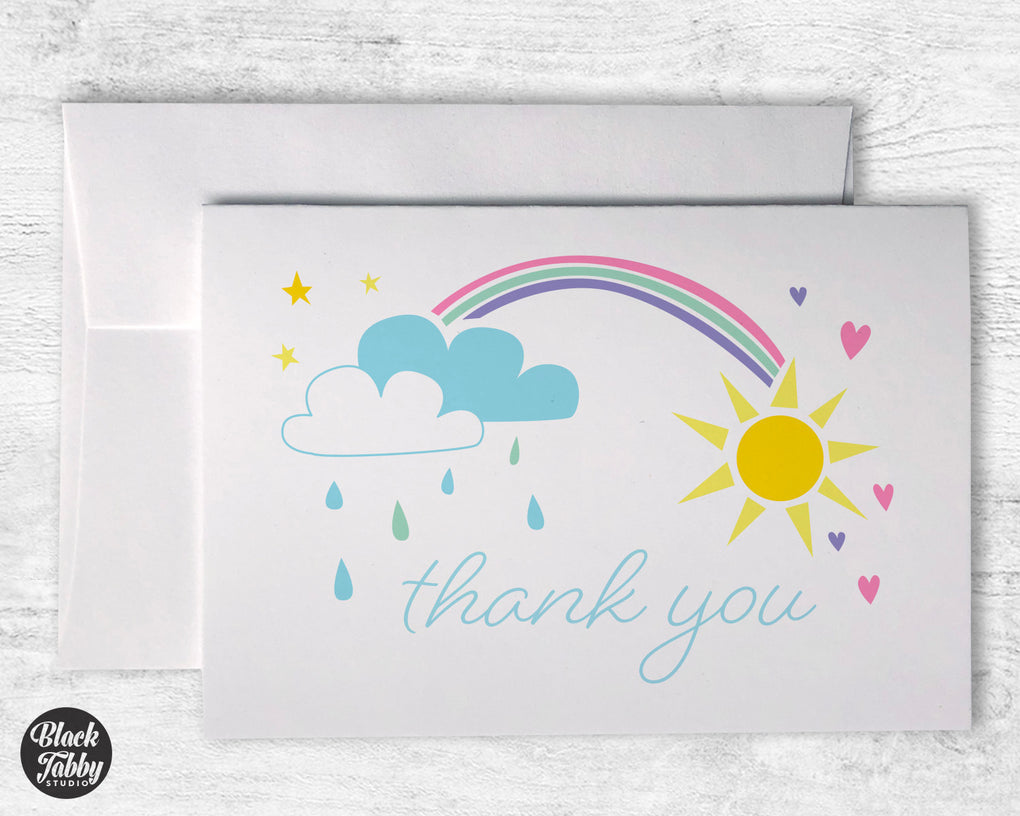 Rainbow Skies - Thank You Cards