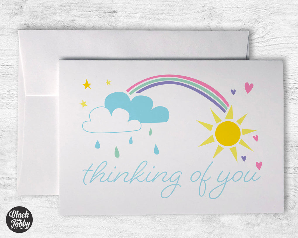 Rainbow Skies - Thinking of You Cards