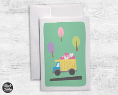 Dump Truck - Greeting Cards