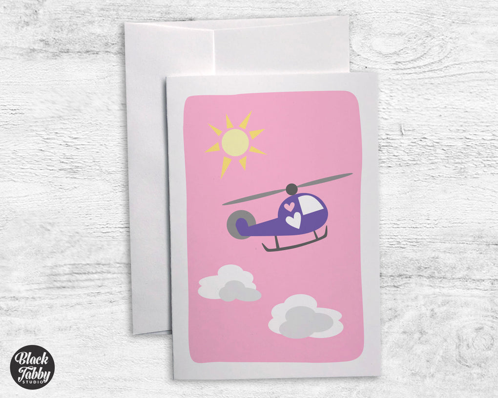 Helicopter - Greeting Cards