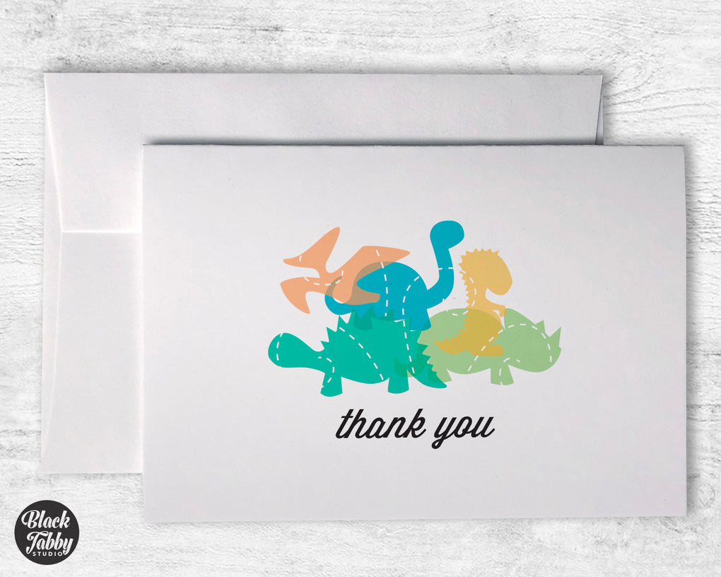 Playful Dinosaurs - CLEARANCE - Thank You Cards