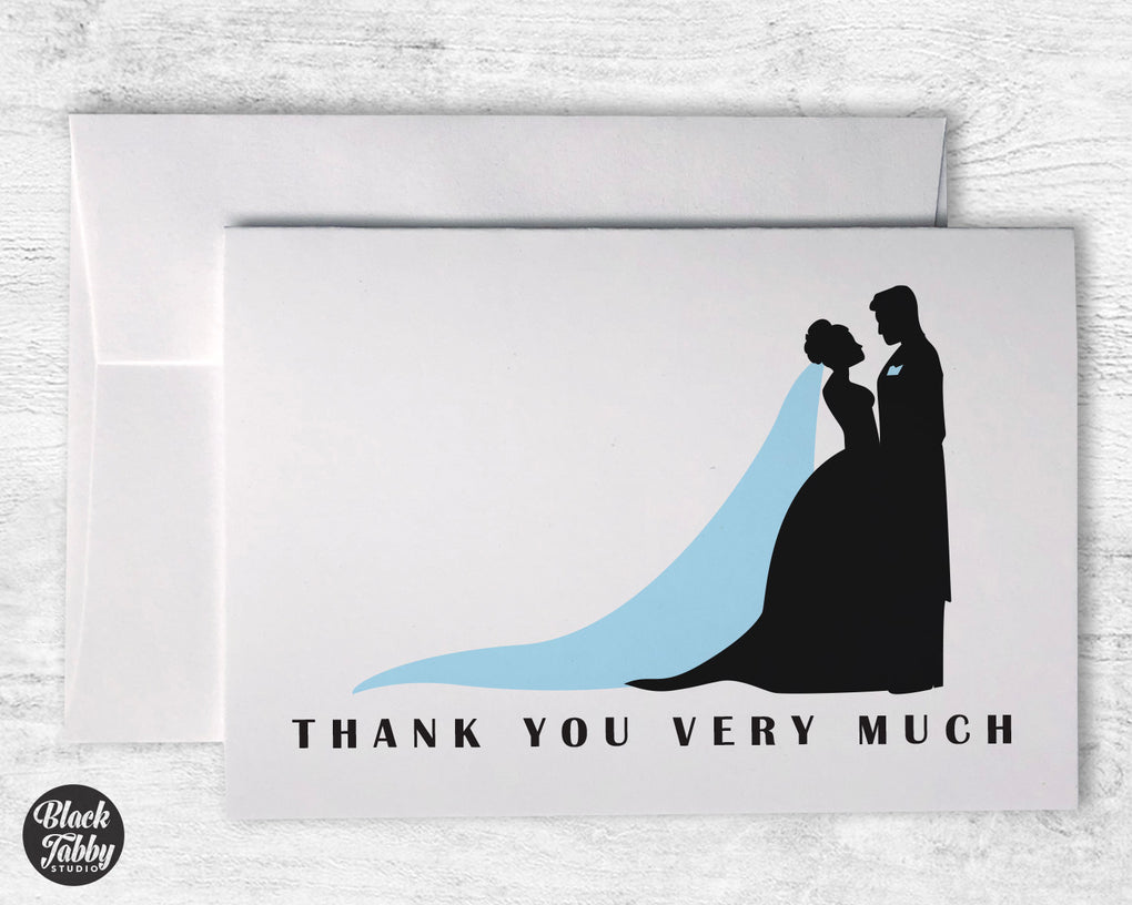 Bride & Groom Silhouette - Thank You Cards