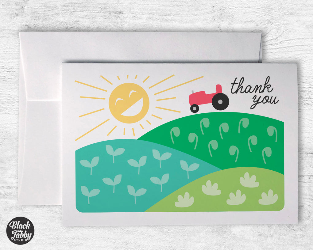 Down on the Farm - Thank You Cards