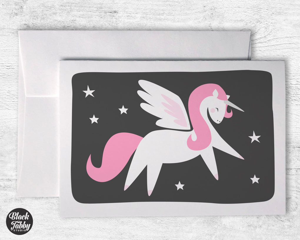 Pink Alicorn - Greeting Cards