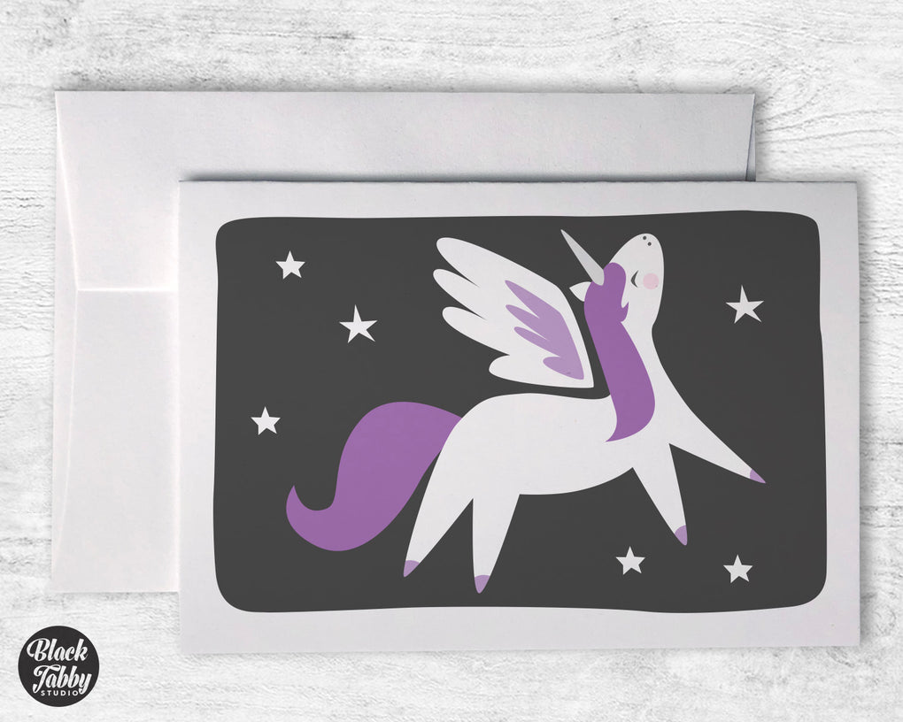 Purple Alicorn - Greeting Cards