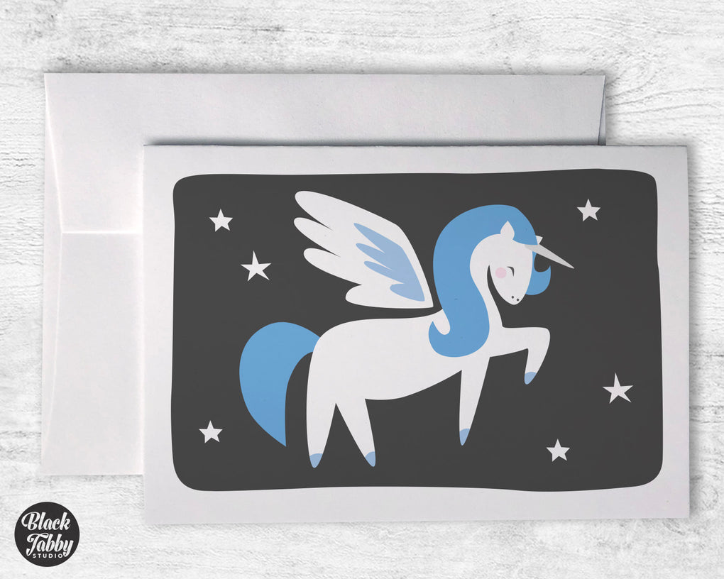 Blue Alicorn - Greeting Cards