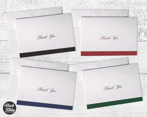 Business Formal Cursive Stripe - Thank You Collection Pack
