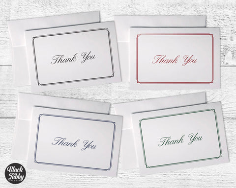 Business Formal Thin Border - Thank You Collection Pack