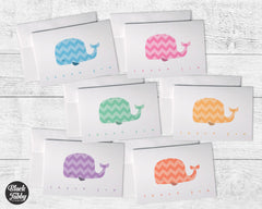 Chevron Whales - Thank You Collection Pack