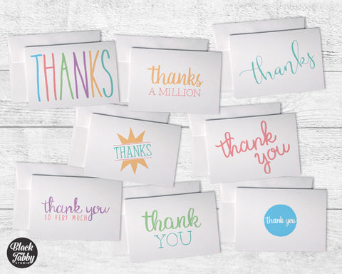 Colorful Everyday Typography - Thank You Collection Pack
