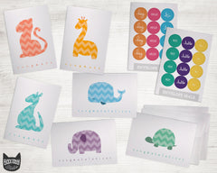 Chevron Animals Around the World - Congrats Collection Pack