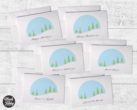 Winter Snowglobe - Greeting Cards Collection