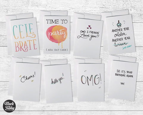Birthday Celebration Typography - Birthday Collection Pack