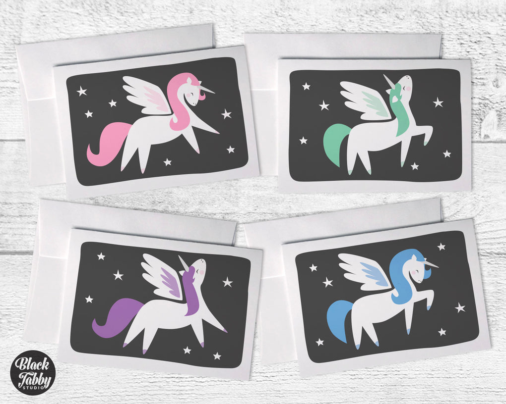 Pretty Pastel Alicorns Greeting Card Collection