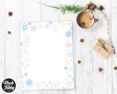 Pastel Snowflakes - Winter Stationery Paper
