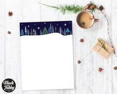 Winter Forest Scene - Winter Stationery Paper