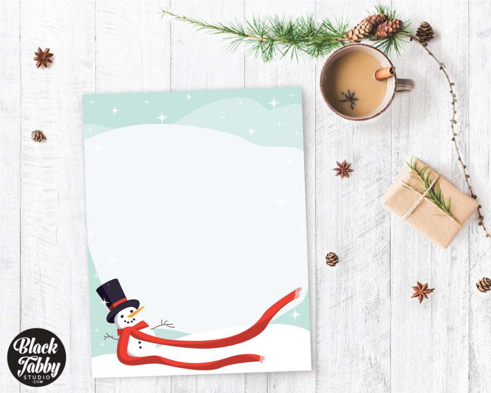 Festive Snowman - Winter Stationery Paper