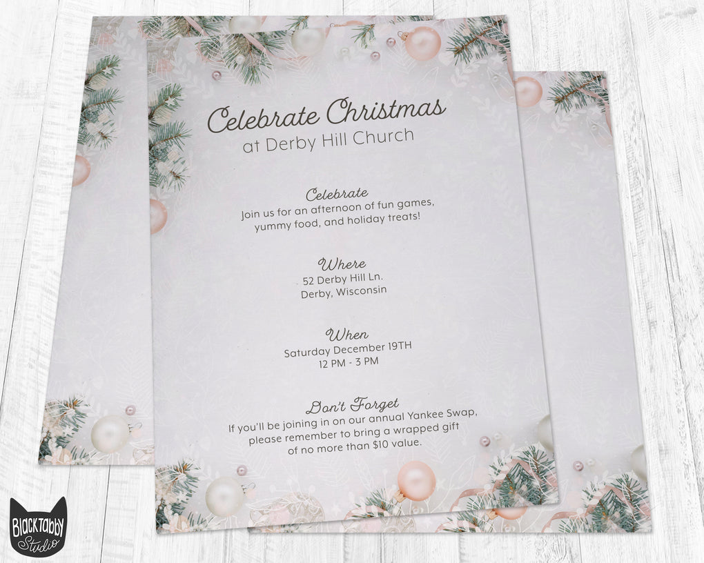 Christmas Decor Stationery Paper - Set of 40 Sheets