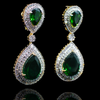 Anita Earrings - Emerald