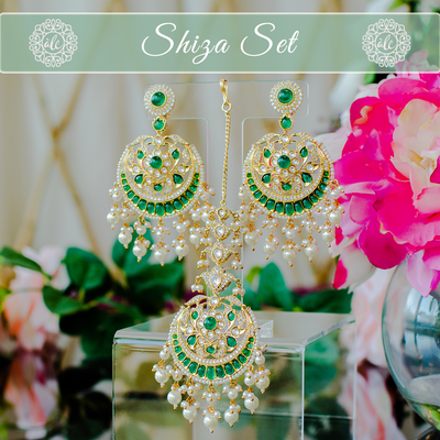 Shiza Set - Emerald (Available in 2 Plating Options)