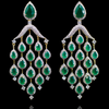 Rani Earrings - Emerald